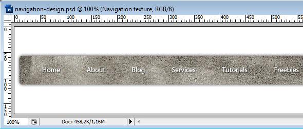 Современный дизайн навигации в стиле грандж в Photoshop