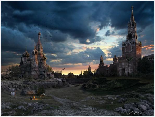 Пейзажи апокалиптической Москвы закат | Красная площадь