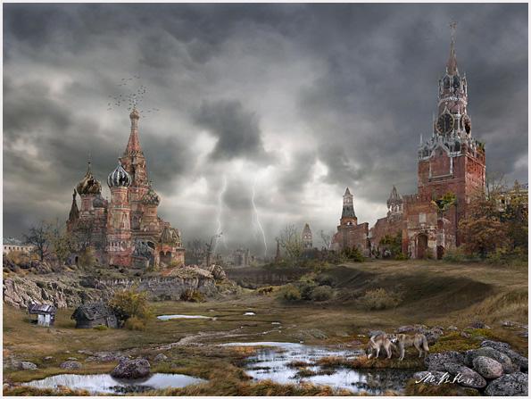 Пейзажи апокалиптической Москвы | Красная площадь