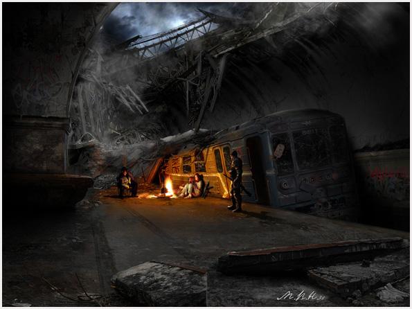 Пейзажи апокалиптической Москвы | станция Метро Сокол