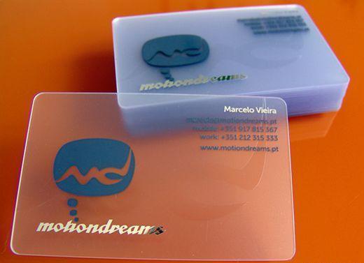 Пластиковые визитные карточки