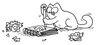 художник Simon Tofield и его персонаж Simon`s Cat