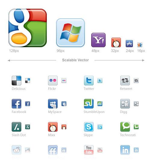 Скачать бесплатно социальные иконки для вашего сайта